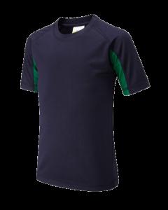 Navy Green PE Top