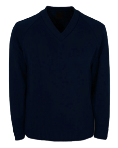 Knitted-V-neck-jumper