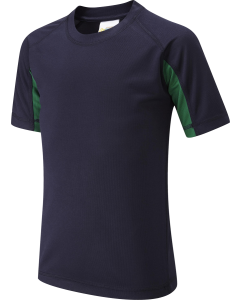 Navy Green PE Top