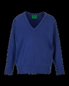 knitted V neck Royal blue